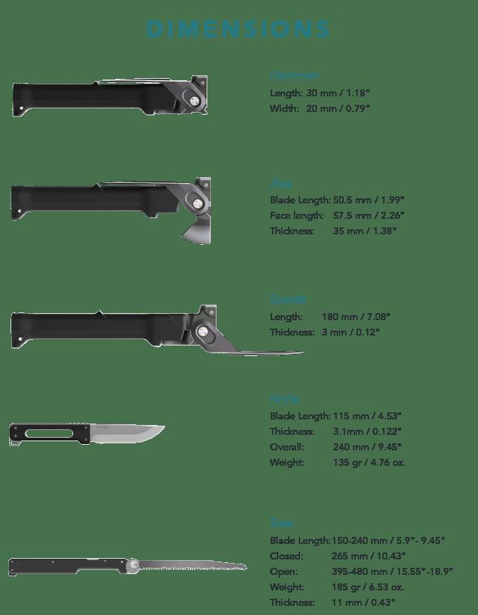 combar heavy duty multi tool. bushcraft multi tool axe shovel combo titanium edc prepper multi tool 14