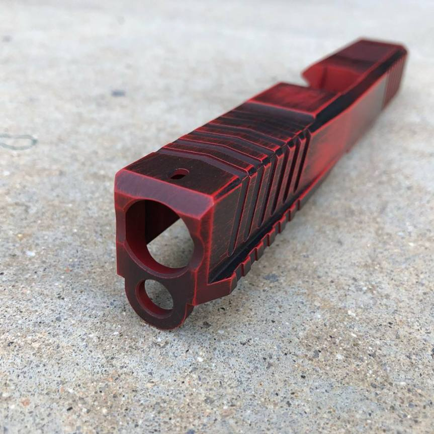 dv8 dynamics dv8 razor billet glock slide custom glock slide. custom cerakote glock slide rmr cut 3