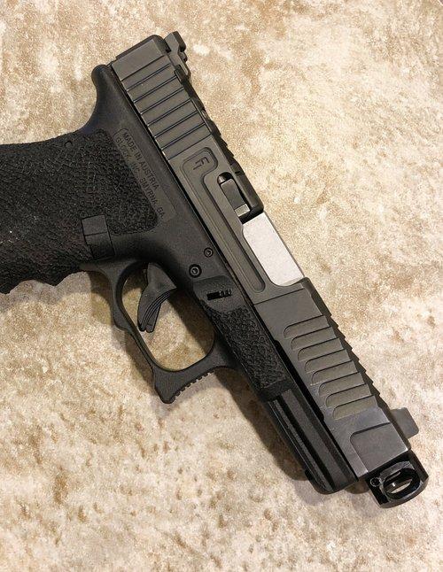 mayhem sydicate carry compensator system glock compensator for carrying a pistol small glock comp glock 19 custom glock 17 glock 26 gen 5 glock 4