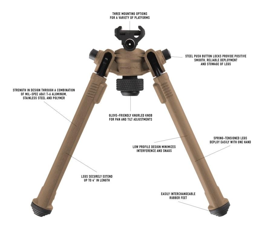 magpul bipod sniper bipod ar15 mlok bipod black rifle bipod bypod 1