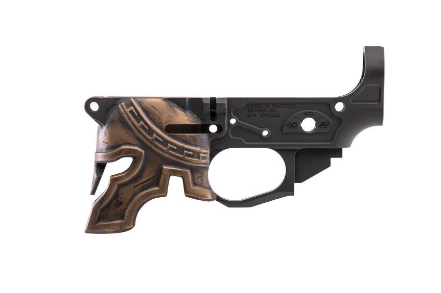 spikes tactical 3d spartan helmet lower stripped ar15 lower receiver molonlabe tactical black rifle stlb610 5