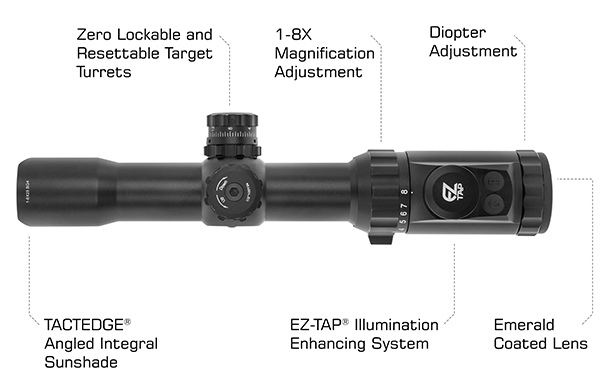leapers utg bg4 reticle 1-8x28 30mm MRC scope sniper scope black rifle ar15 ar-15 attackcopter SCP3-18IEBG4 4