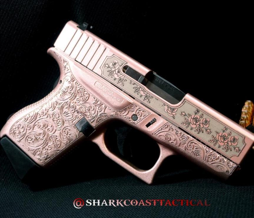 Shark coast tatical pink glock n roses girly glock pink gun pink pistol pink rifle princess pistol attackcopter a