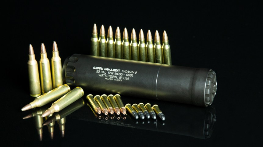 Griffin armament paladin 5 supressor paladin 5 silencer  multi caliber can tactical black rifle sniper  3.jpg