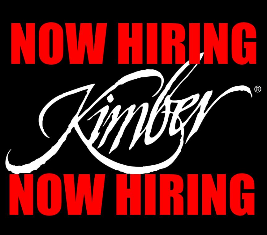 KIMBER NOW HIRING FIREARM JOBS GUNSMITH GUN INDUSTRY JOBS