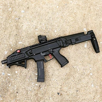 dan haga designs bushmaster ACR stock adapter for the cz scorpion acr stock adapter b&t apc223 stock adapter 5