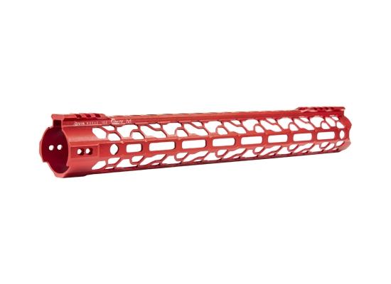 odin works red anodized ar15 handguards red ragna rail MLOK red 92 lite ar15 rails 2