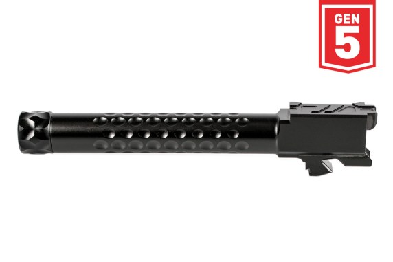 zev technologies glock 17 gen 5 threaded barrel match grade gen 5 barrels BBL-17-V2-5G-DLC
