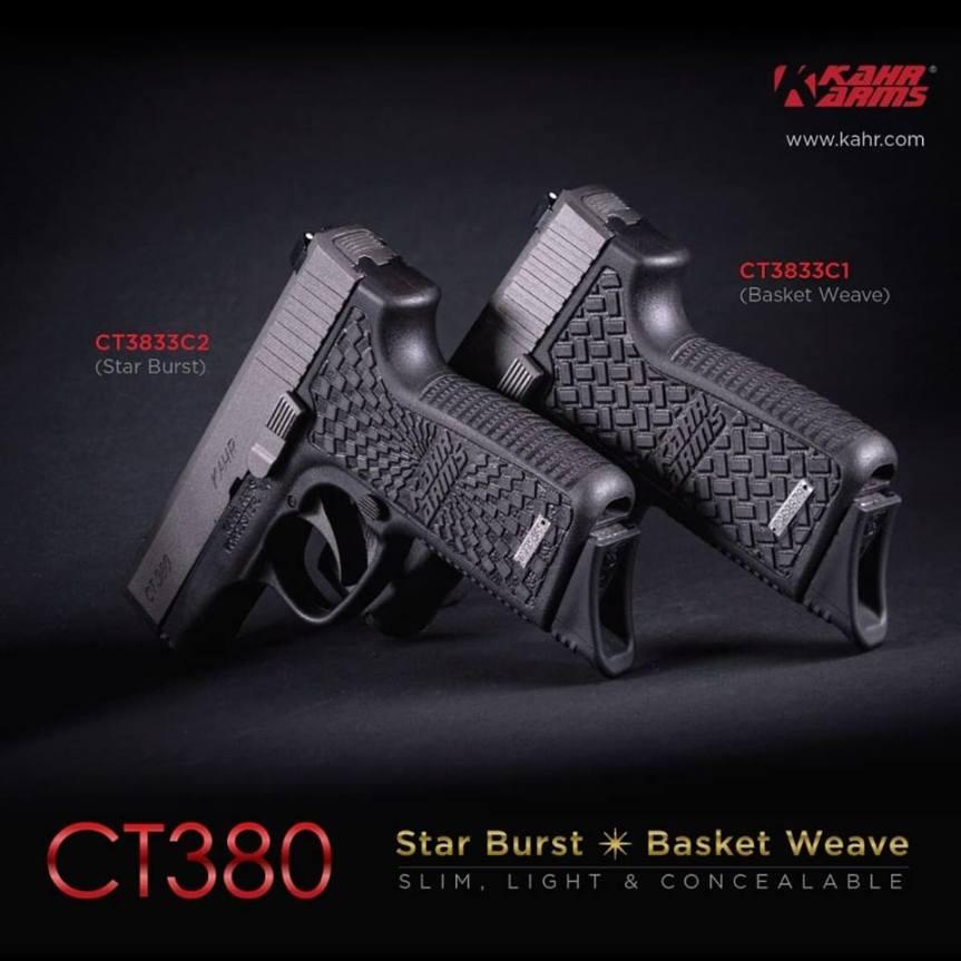 kahr firearms ct380 basket weave frame ct380 starburst grip stippling.  1.jpg