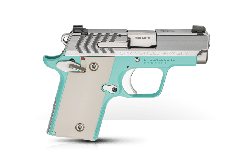 springfield armory 911 380 pistol mini 1911 new color combination tiffany blue pistol 2.png