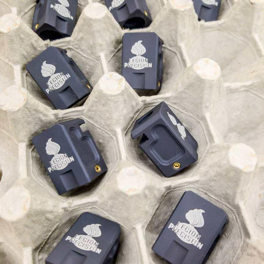 legion precision pistol compensator 9mm pistol comp glock comp that fits tight to the slide 3
