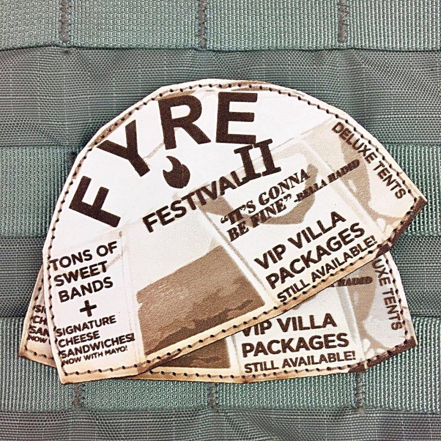 violent little machine shop fyre festival two morale patch edc range bag patches for your hat 2.jpg