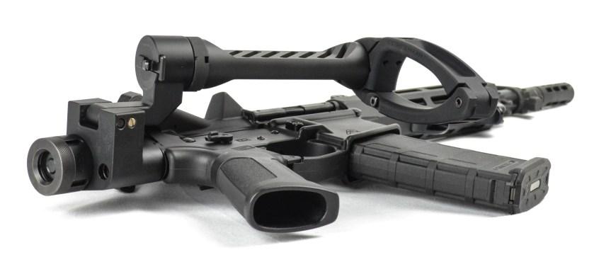 dead foot arms komodo tail hook adapter gear head works tail hook pistol brace onto buffer tube 4