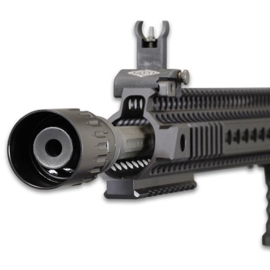 yankee hill machine adaptable blast deflector blast sheild for dead air griffin armament redirector sleeve linear comp for q plan b  1.jpg
