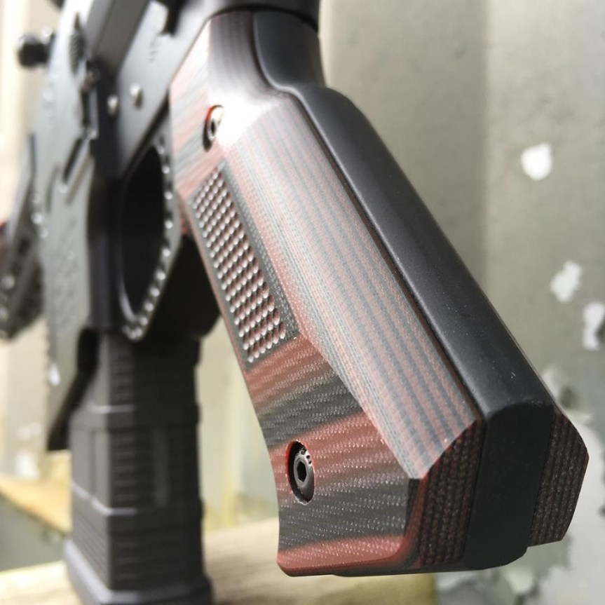 doublestar corp stronghold pistol grip aluminum ar15 grip made of g10 MLOK 3