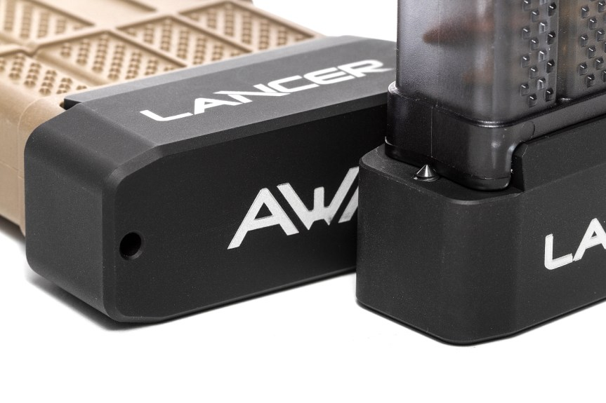 lancer systems l5awm magazines plus 6 ar15 magazine extension aluminum basepad.  c.jpg