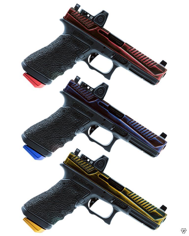 strike industries glock plus 0 base pads for glock aluminum magazine base pads. 2