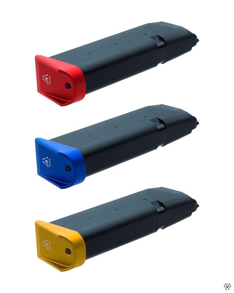 strike industries glock plus 0 base pads for glock aluminum magazine base pads. 5
