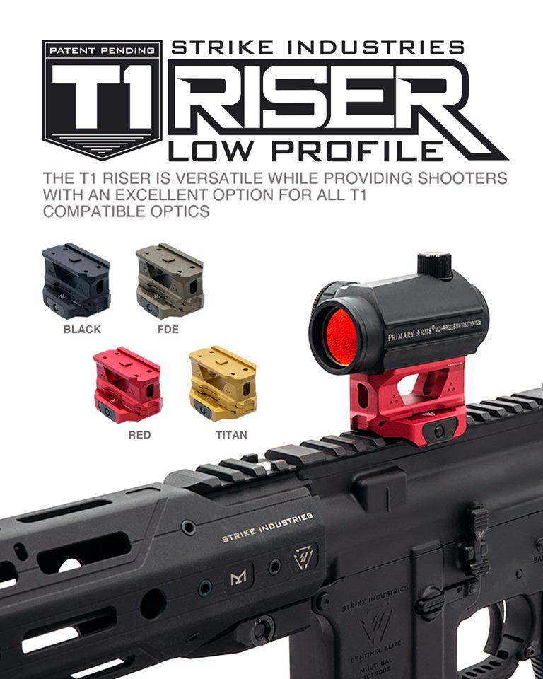 strike industries rex t1 riser mount SI-T1-RISER aimpoint riser mount cowitness absolute witness red dot optics  1.jpg