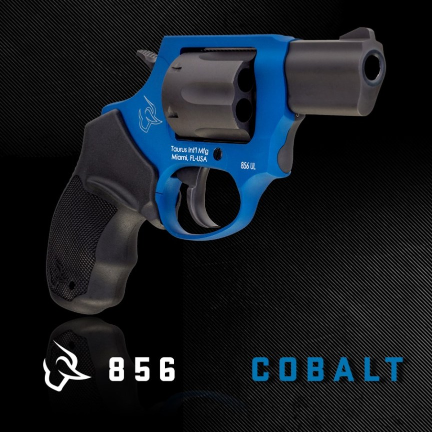 taurus usa 856 38 special plus p revolver cobalt blue taurus 856 spurred hammer conealed carry revolver  1.jpg