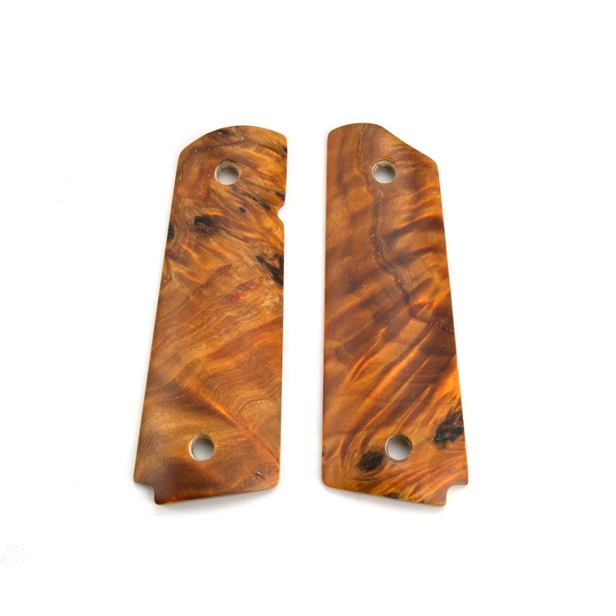 ed brown products poplar burl 1911 grips 45-POPL fine wood custom 1911 grip panels 2
