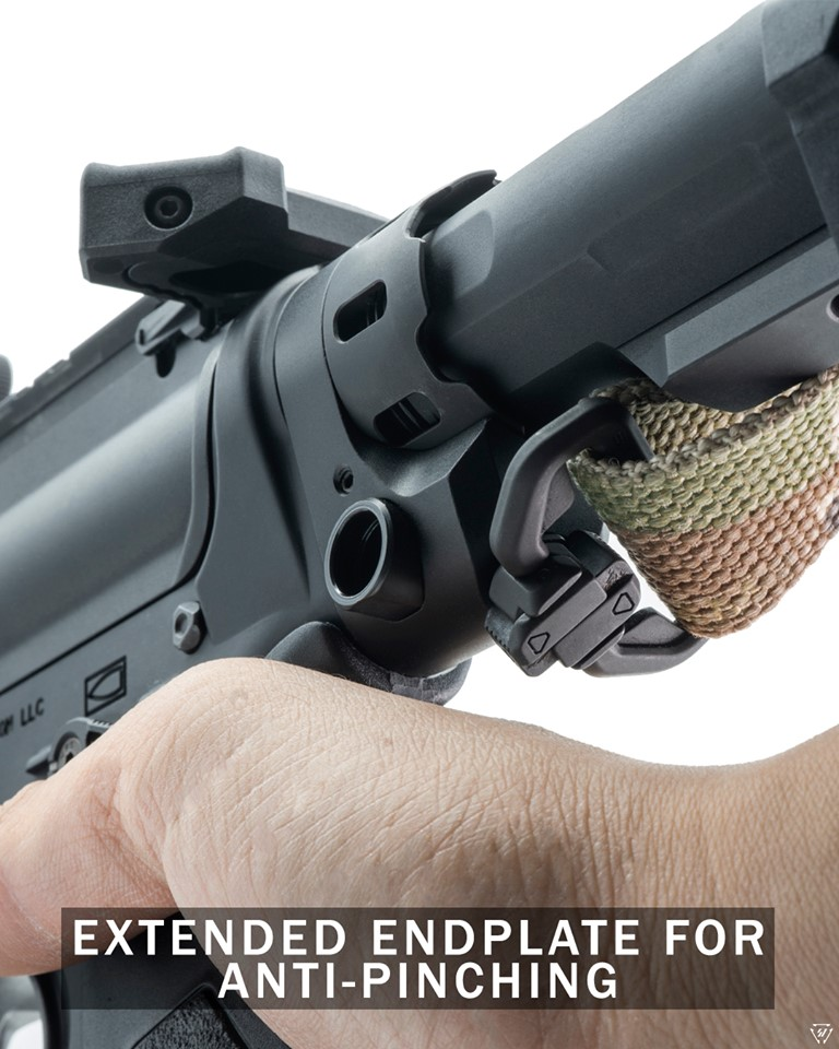 strike industries tribus ENHANCED CASTLENUT EXTENDED END PLATE FOR THE AR15 castle nut 2