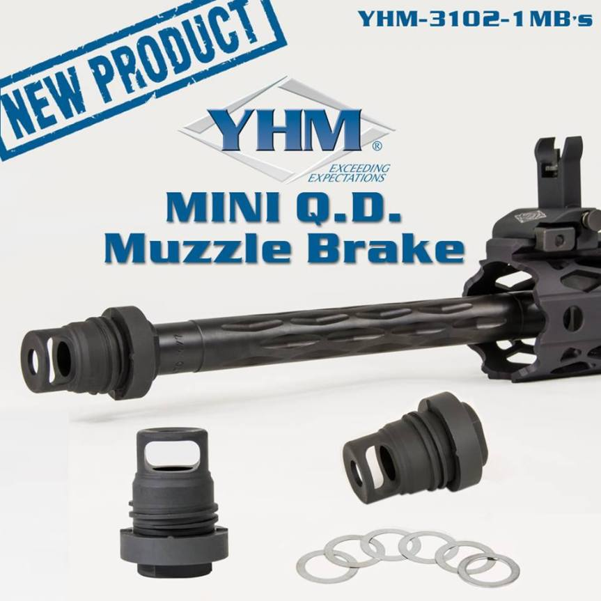 yankee hill machine phantom qd muzzle brake .350 bore muzzle brake most compact muzzle device  1.jpg