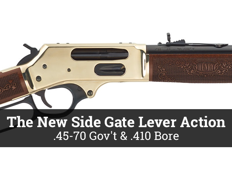 henry repeating arms henry usa 45-70 gov 410 lever action side gate H024-4570 H024-410