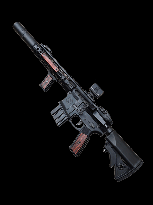 indignant arms streamline accented AR15 grips wood ar15 grip 3.png