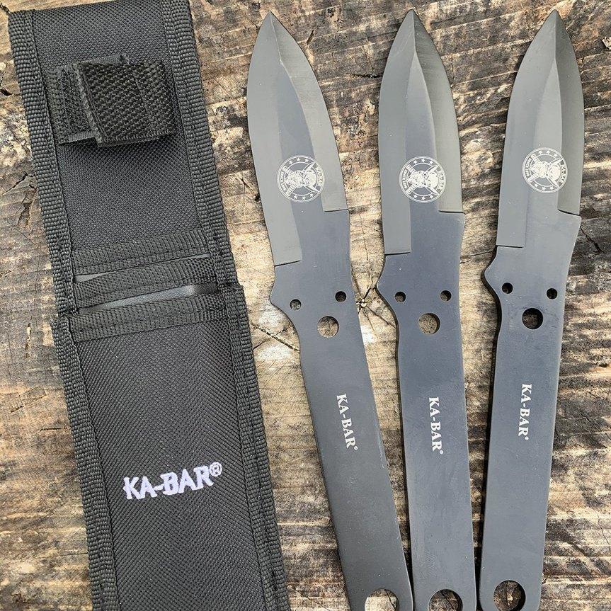 ka-bar throwing knife set 3cr13 steel knife 1