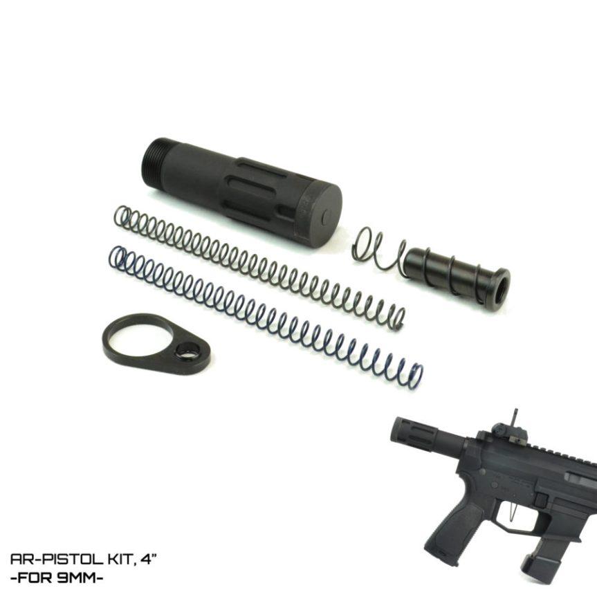 deadfoot arms mcs pistlol kits modified cycle system shortest buffer tube milspec DFA-MCS-PK49MM DFA-MCS-PK4RC 3