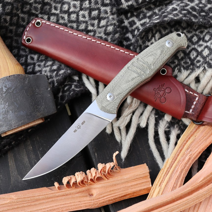giant mouse gmf2-ff fixed blade knife m390 steel blade 1