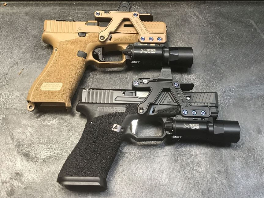 agency arms aom optic mount glock red dot mount picatiny mount optic pistol 2