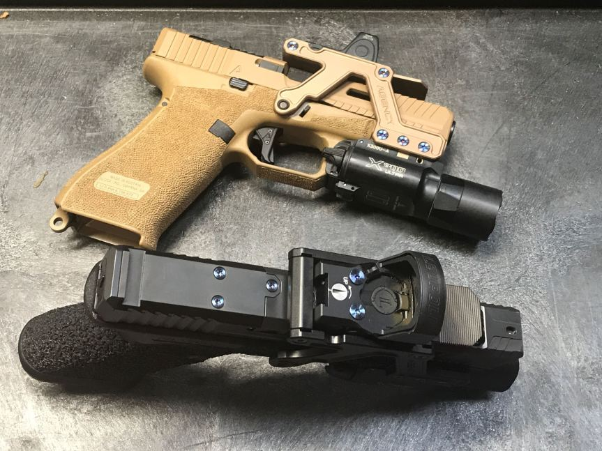 agency arms aom optic mount glock red dot mount picatiny mount optic pistol 5
