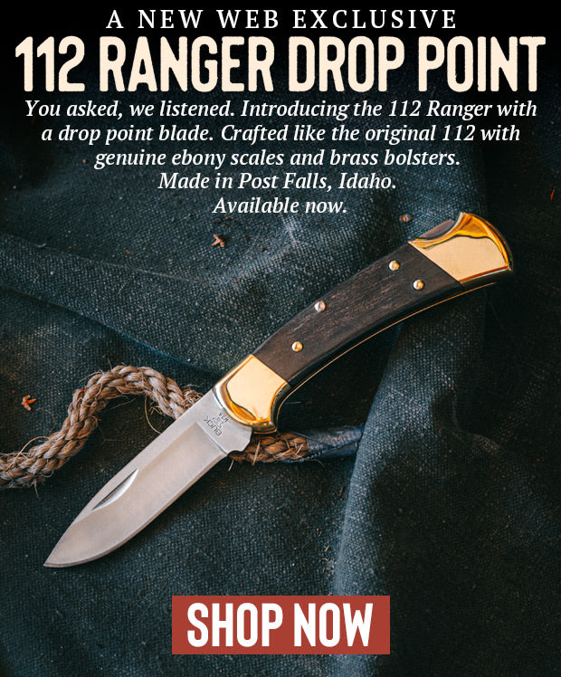 BUCK KNIVES RELEASES LIMITED EDITION 112 RANGER DROP POINT KNIFE