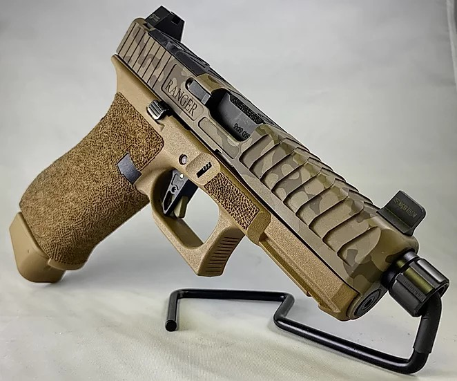 tyr defense industries kris sutton shoot and move glock 19x 9mm custom slide serrations 1