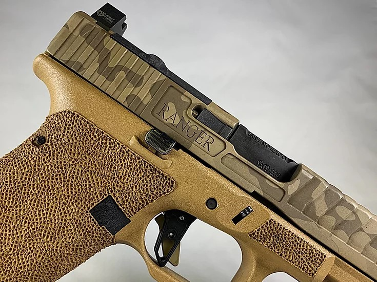 tyr defense industries kris sutton shoot and move glock 19x 9mm custom slide serrations 2