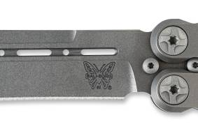 The Benchmade Knife company 85 billet titanium bali-song knife butterfly knife