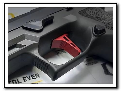 armory craft sig sauper p320 flat triiger adjustable sig p320 x5 legion m17 m18 trigger 9mm 1