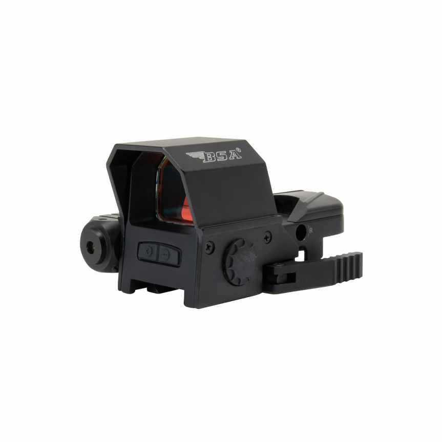 bsa optics reflex red dot sight with laser 33mmx24mm RS-3324RL-001