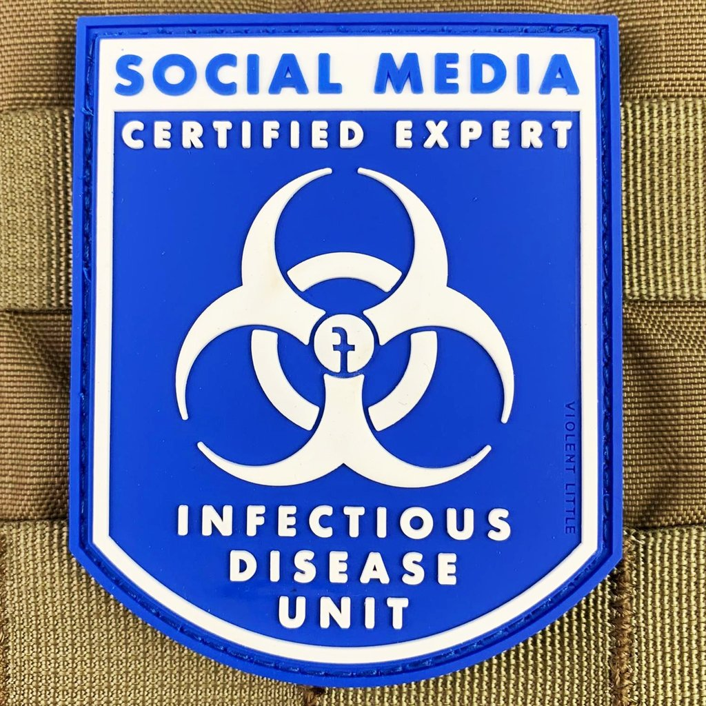 "VIOLENT LITTLE MACHINE SHOP LAUNCHES THE ""SOCIAL MEDIA EXPERT – INFECTIOUS DISEASES"" PATCH"