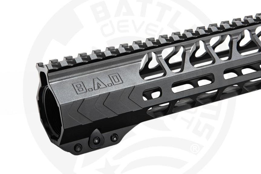 battle arms development 13 inch ar15 handguard mlok 3