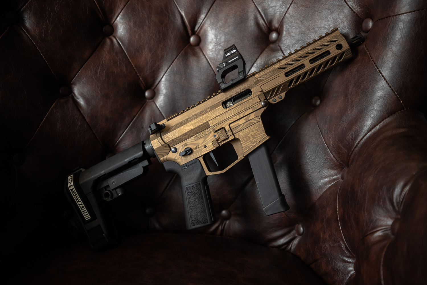ANGSTADT ARMS SHOWS OFF LIMITED EDITION BRONZE DAMASCUS UDP-9 PISTOL