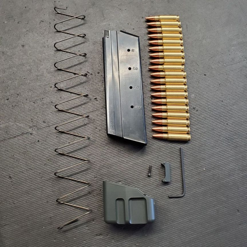 f5 mfg ruger 57 pistol ruger 57 magazine extensions mag plate 5.7x28mm 4
