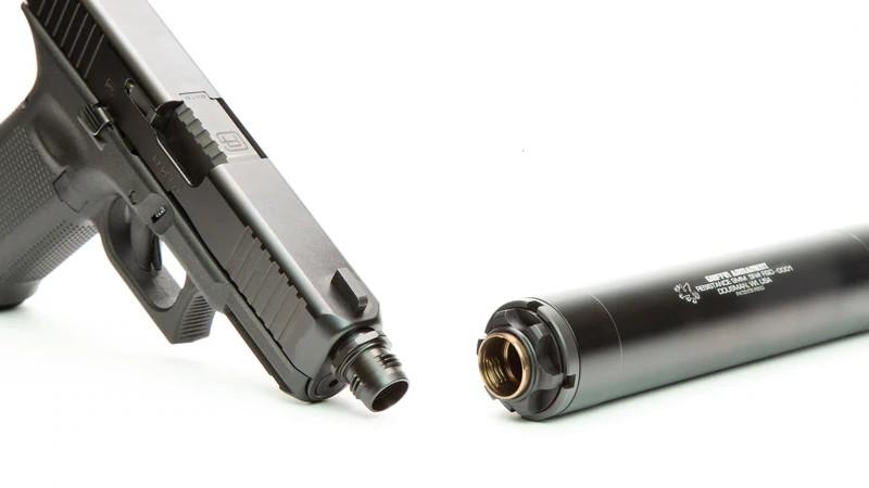griffin armament cam-lok barrel adapters quick connect pistol suppressor quick detach can 2