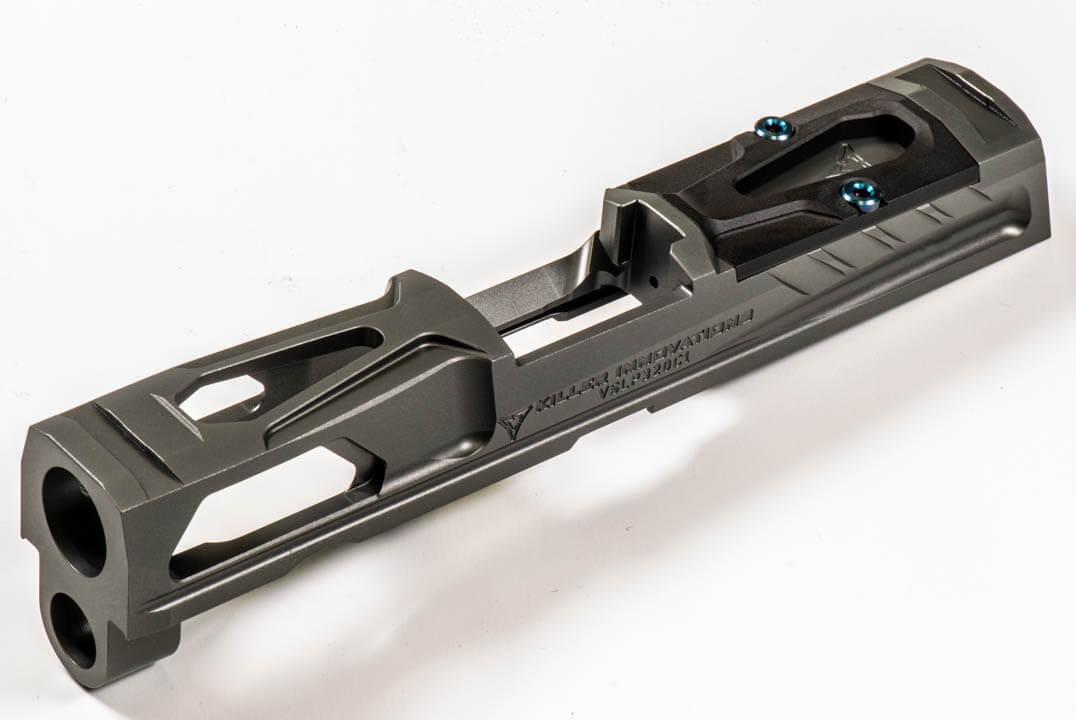 killer innovations velocity sig p320c V1 slide custom p320 slide serrations red dot slide