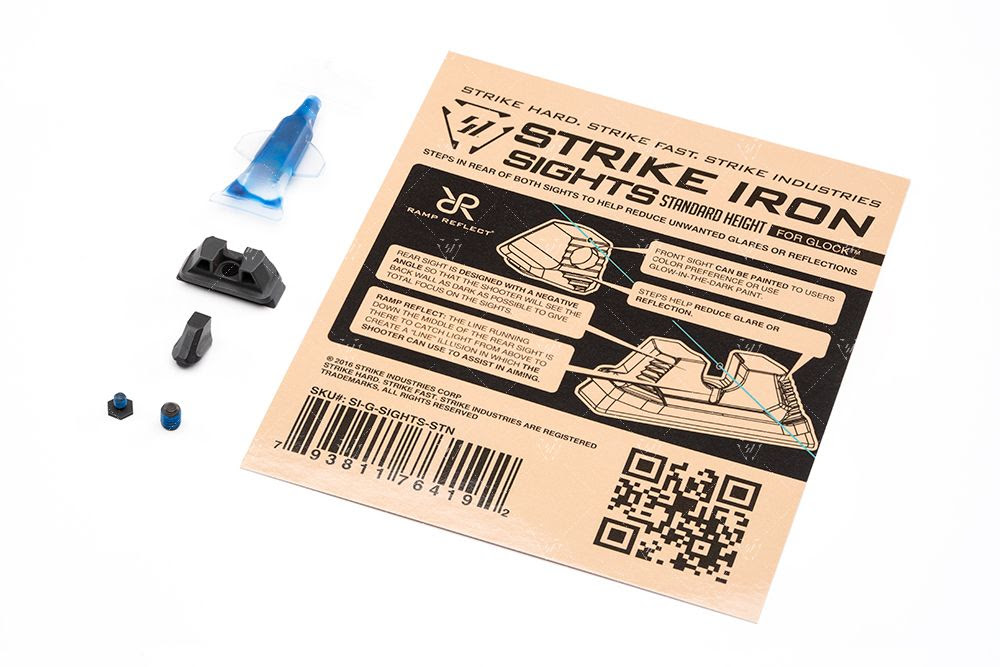 strike Industries glock suppressor height sights cowintess iron through red dot