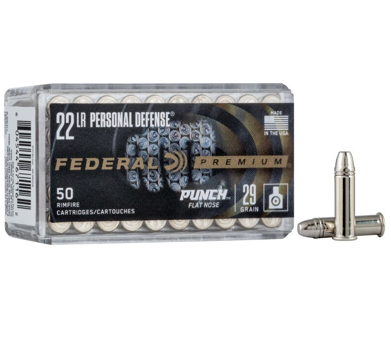FEDERAL PREMIUM LAUNCHES PERSONAL DEFENSE PUNCH RIMFIRE 22 LR