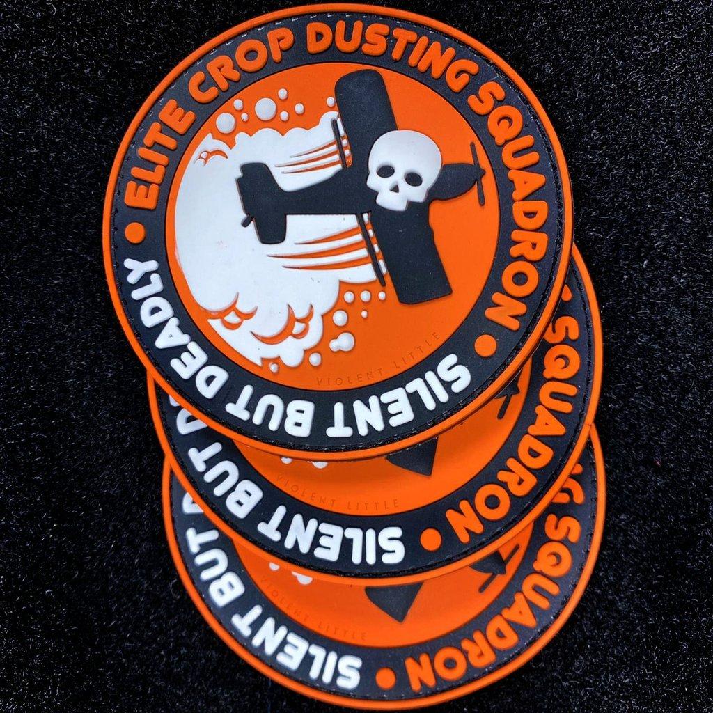 violent little machine shop morale patche pvc patch