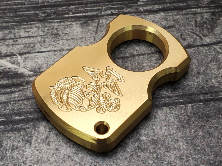 milspin single hole brass knuckle duster paperweights